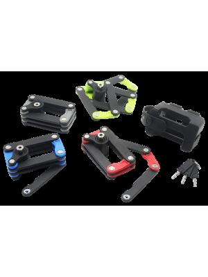 Bosvision Folding Padlock with 2 disc keys and mount bracket