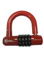 88mm 4-digit Resettable Combination Padlock with 10mm shackle - RED