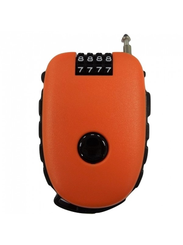 4-digit cable combination padlock