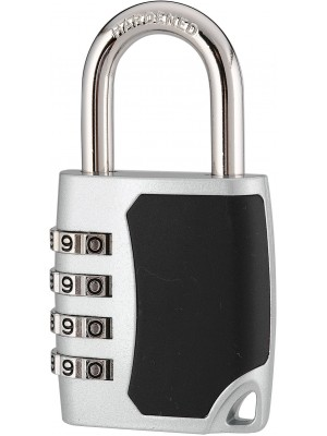 43mm 4-digit Resettable Combination Padlock with 6mm shackle