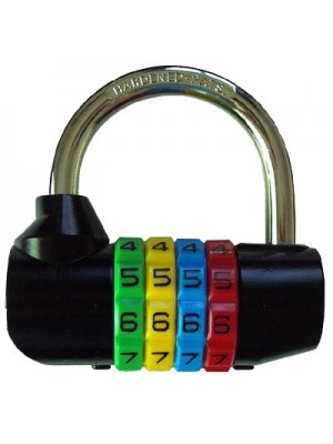 64mm 4-digit Resettable Combination Padlock with 7.8mm shackle
