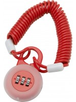 3-digit Resettable Combination Padlock with 120cm leash