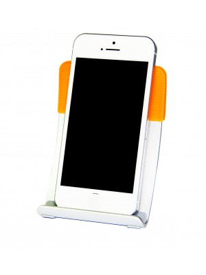 Smart Stand Aluminium foldable stand for iPhone,  Smart Phone and Mobile Phone - ORANGE