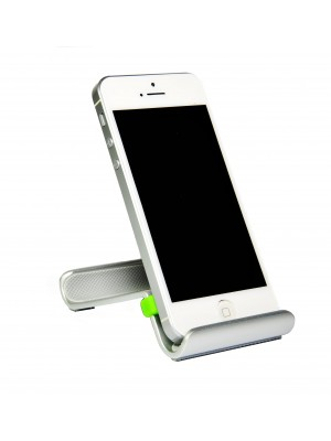 Smart Stand Aluminium desktop stand for iPhone, Smart Phone and Mobile Phone - GREEN