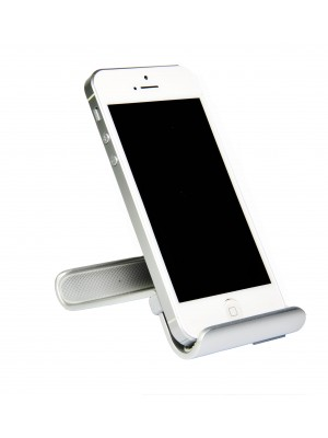 Smart Stand Aluminium desktop stand for iPhone, Smart Phone and Mobile Phone - GRAY